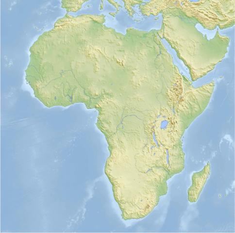 La carte de l'Afrique dans son ensemble